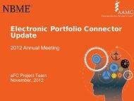 Electronic Portfolio Connector Update - Member Profile