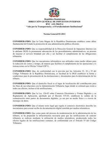 03-11 - Direccion General de Impuestos Internos