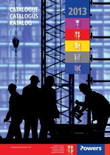 2013 catalogue catalogus katalog - bei Powers Europe