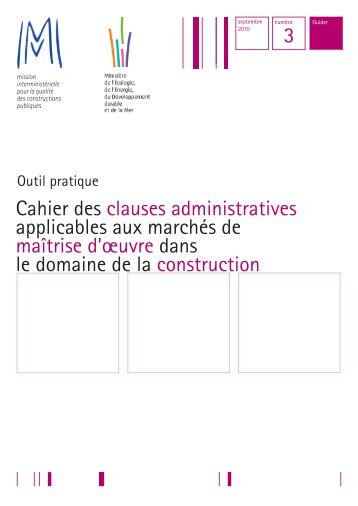 Cahier des clauses administratives applicables ... - Syntec ingenierie