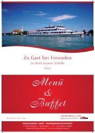 Buffet- und Menüvorschläge - ÖBB Bodenseeschifffahrt Bregenz