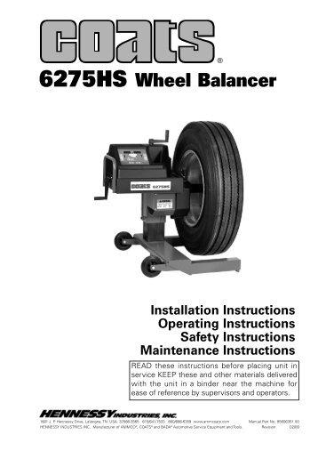 6275HS Wheel Balancer - NY Tech Supply
