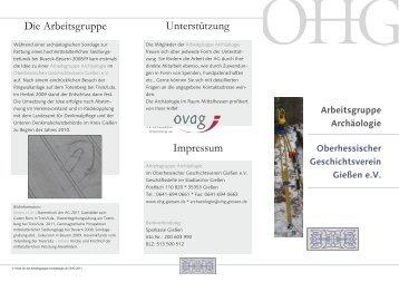 Oberhessischer Geschichtsverein Gießen eV Arbeitsgruppe ...