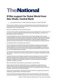 10bn support for Dubai World from Abu Dhabi, Central ... - Vae-psf.de