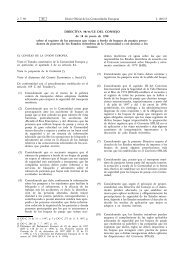 DIRECTIVA 98/41/CE DEL CONSEJO de 18 de junio de 1998 sobre ...