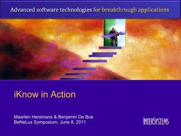 iKnow in Action - InterSystems Benelux