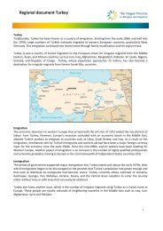 Regional document Turkey - The Hague Process on Refugees and ...