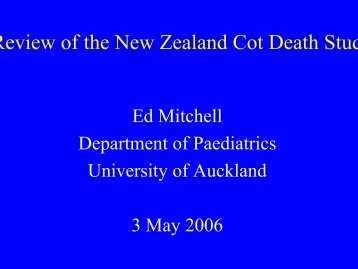 International perspectives on SUDI - Ed Mitchell ... - Hqsc.govt.nz