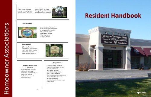 handbook draft - Village of Olympia Fields