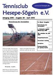 Wir schreiben das Jahr 2010 - tc-hesepe.de - tennisclub hesepe ...
