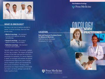 Nurse Practitioner Brochure - Department of Radiation Oncology