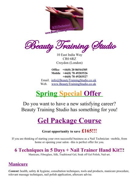 Do You Want To Have A New Satisfying Career Beauty Training Studio