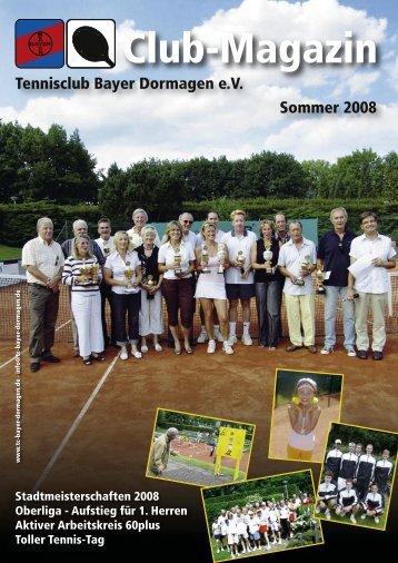 Trainingsinhalte der Gruppen - TC Bayer Dormagen eV