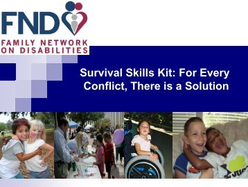 Conflict Resolution - The Family Network on Disabilities of Florida