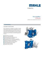 Datenblatt COM plus - MAHLE Industry - Filtration
