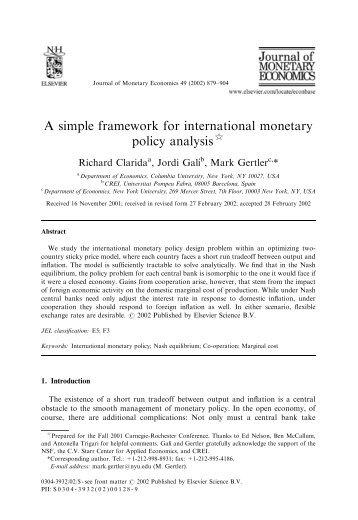 an analysis of the international monetary A simple framework for international monetary policy we study the international monetary policy design model that is useful for international policy analysis.