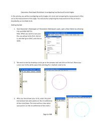 Investigating Inscribed and Central Angles - Faculty Home Pages