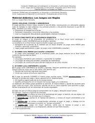 Material didáctico: Los Juegos con Reglas - Terras.edu.ar