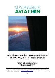 SA Inter Dependencies September 2010 - Sustainable Aviation