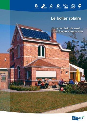 Le boiler solaire - Eandis