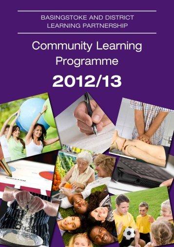 Community Learning Programme - Basingstoke and Deane ...