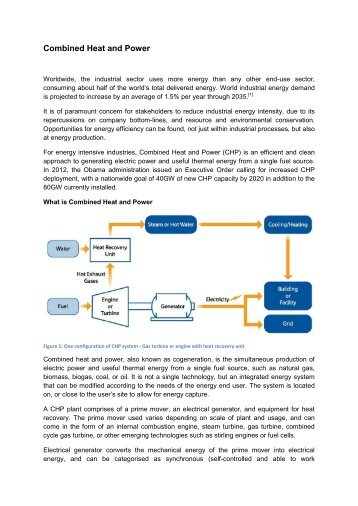 Combined Heat and Power - Energy Efficiency