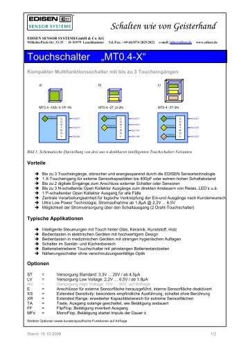 Datenblatt MT0.4-X - EDISEN SENSOR SYSTEME