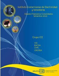 III Trimestre 2010 - Grupo ICE