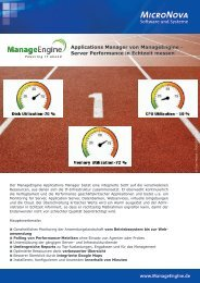 Produkt Übersicht - ManageEngine