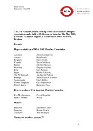 Representatives of IOA Full Member Countries - International ...