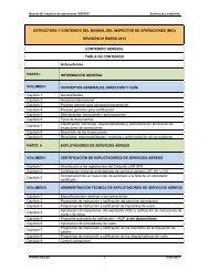 estructura y contenido del manual del inspector de ... - ICAO