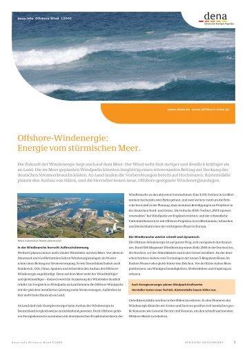 Informationen zur Offshore-Windenergie