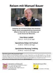 Reisen mit Manuel Bauer 2012 - TCTT GmbH