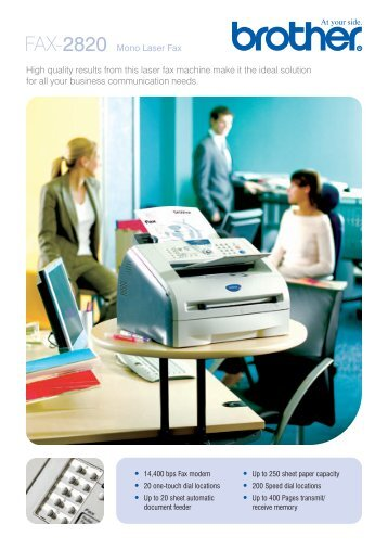 FAX-2820 Mono Laser Fax