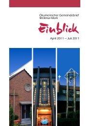 Ökumenischer Gemeindebrief Weitmar-Mark April 2011 — Juli 2011