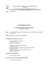 ELŐTERJESZTÉS - Veszprém megye honlapja