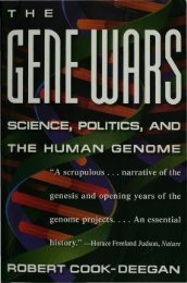 Science, Politics, and the Human Genome - DNA Patent Database