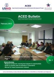 ACED Bulletin - AmCham Moldova