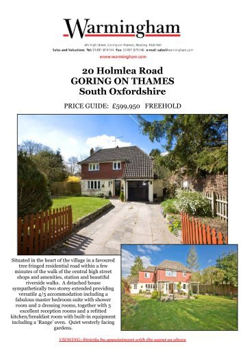 20 Holmlea Road GORING ON THAMES South ... - Warmingham