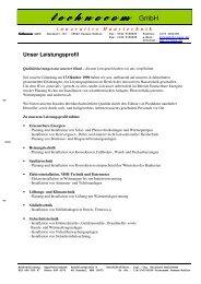 Auszug Referenzen ELT und PV_Dez2011 - technocom GmbH