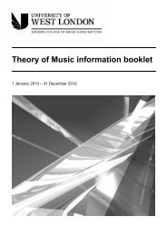 LCM Exams - Theory of Music Information Booklet - esamilcm.it
