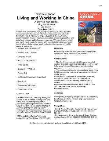 Living and Working in China - National Book Network