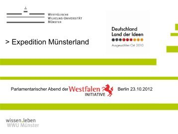 Expedition Münsterland - Westfalen Initiative