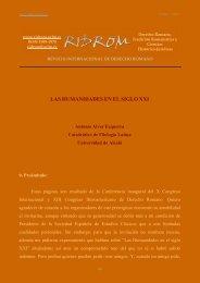 las humanidades en el s. xxi - revista internacional de derecho ...