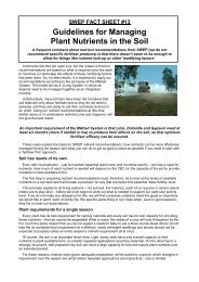 Guidelines for Managing Plant Nutrients in the Soil - Swep