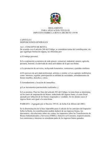 139-98 - Direccion General de Impuestos Internos