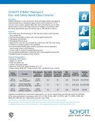PYRAN ® Platinum F Data Sheet - SCHOTT North America