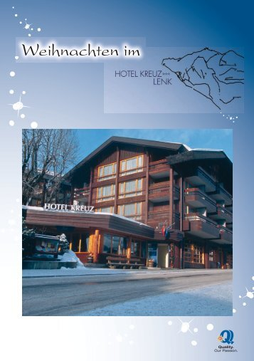Weihnachten 2011 - Hotel Kreuz Lenk