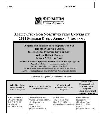 northwestern university application for As you were previously notified, the northwestern university irb office has been diligently working to have a process in place for implementing the nih single irb.