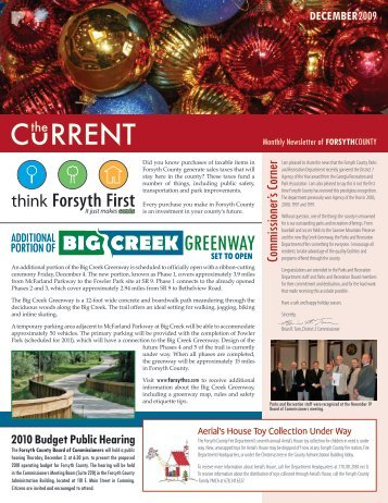 December 2009 Issue - Forsyth County Government